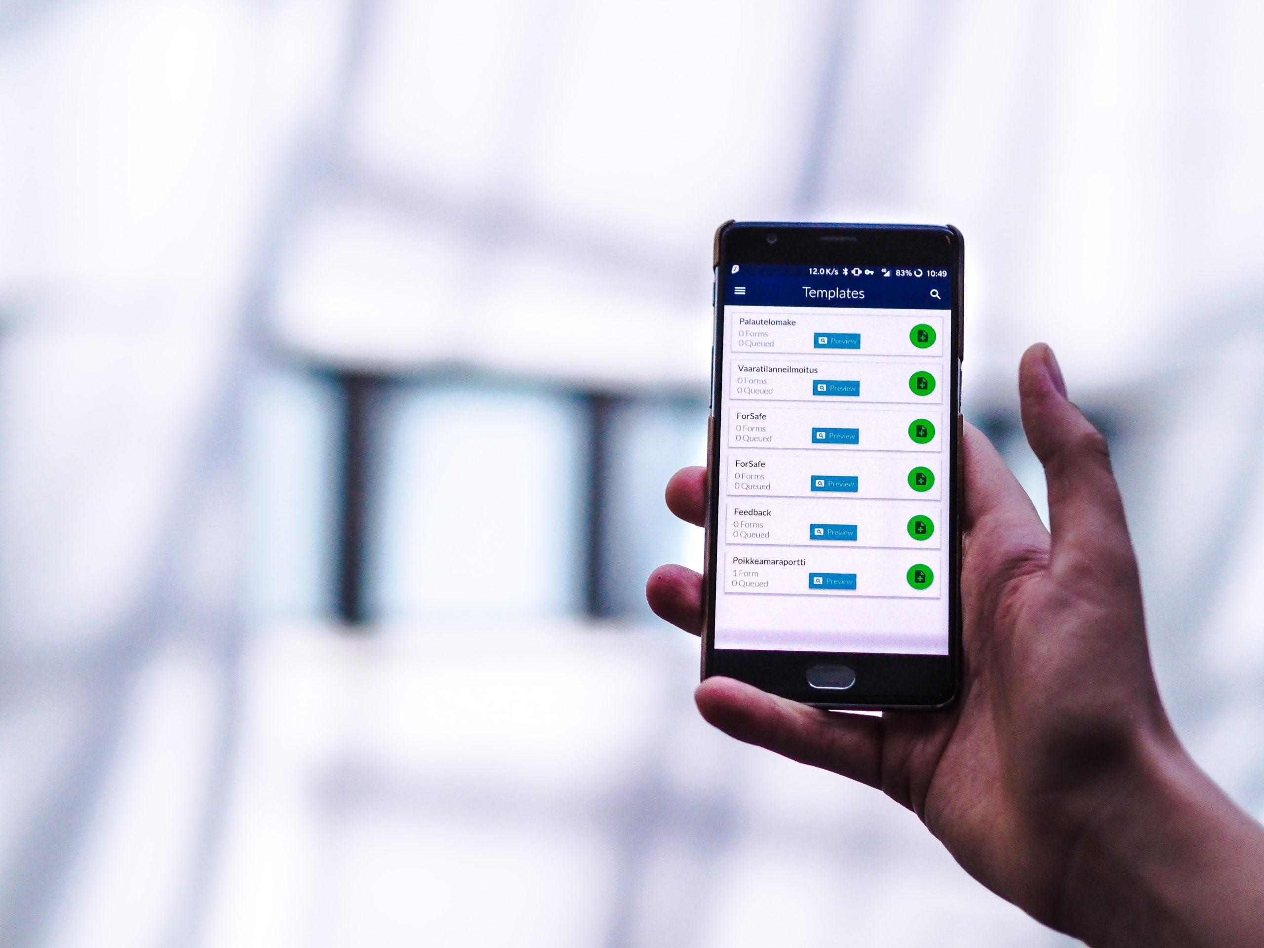 MOF   IMS-ohjelmiston mobiiliraportointi