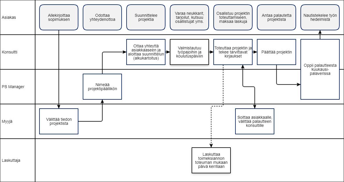 Onnistu prosessityössä - käyttöönotto- ja konsultointiprojektin kuvaus, Markus Meurman Arter Oy