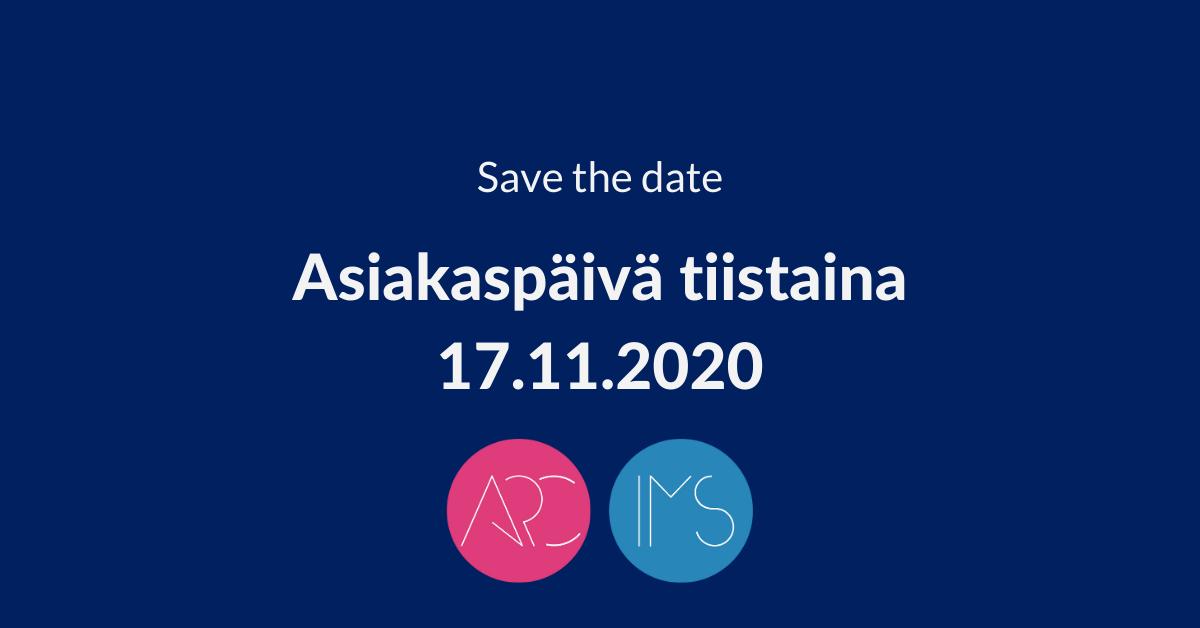 Asiakaspäivä 17.11.2020 ARC- ja IMS-ohjelmistot, Arter Oy