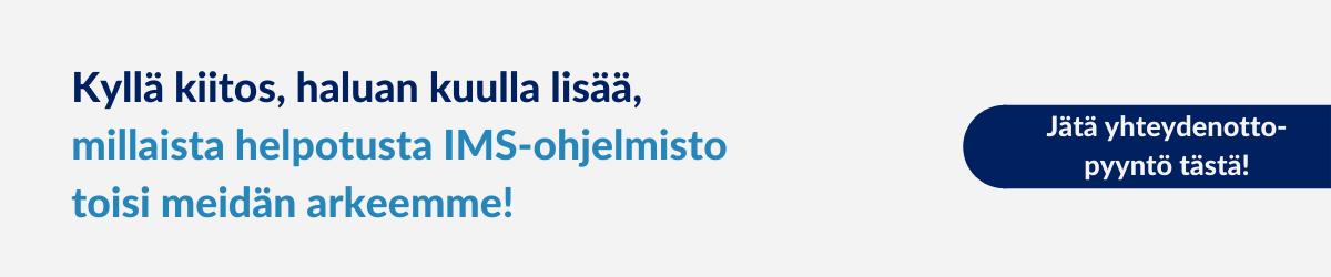 Yhteydenottopyyntö, IMS-ohjelmisto, Arter Oy