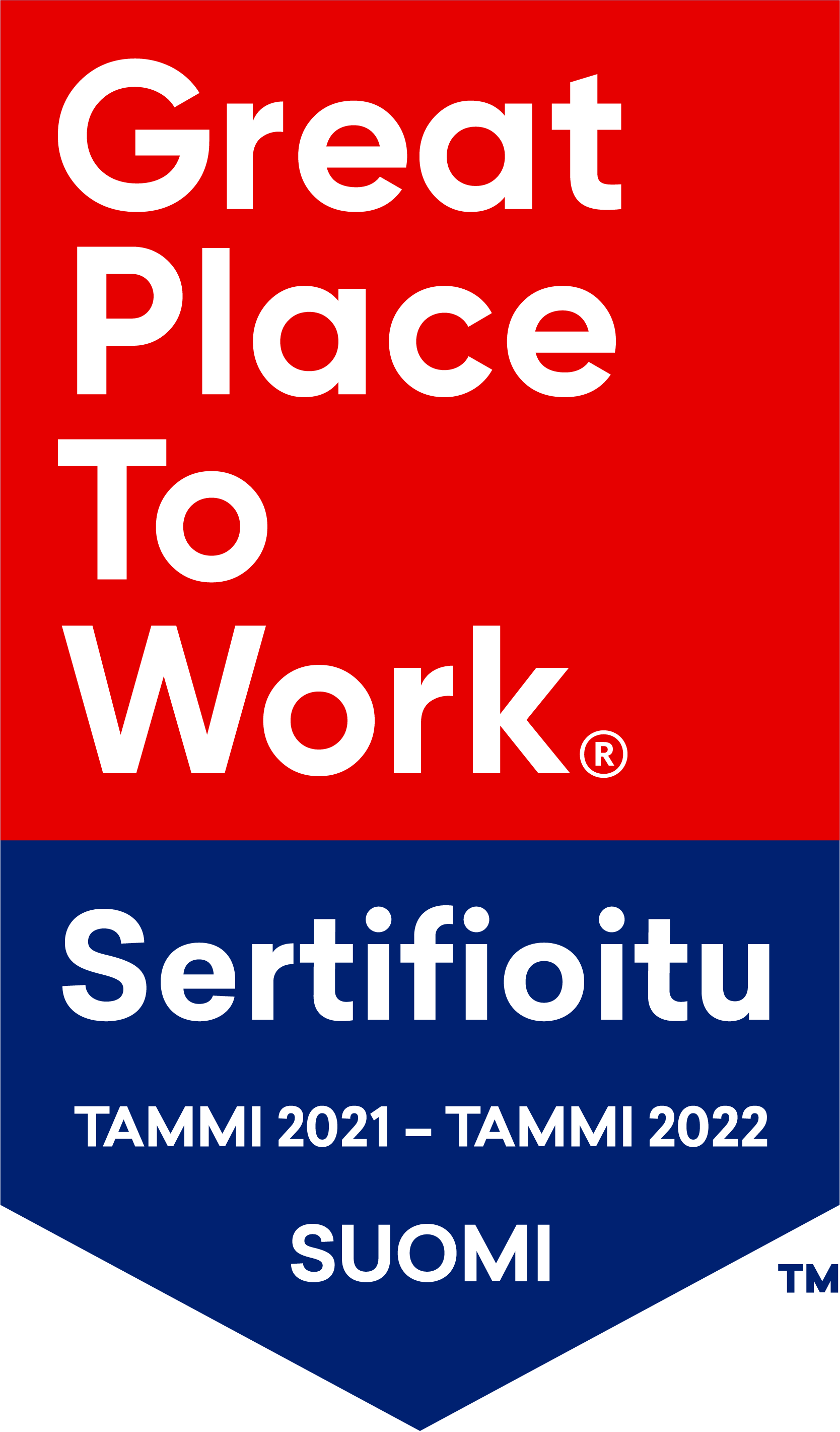 Great Place to Work -sertifikaatti logo (DOC-9907-12845-fi)